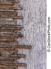 drawing gray modern design style decorative rough cracks in the surface of the real stone wall with cement. As a background for design