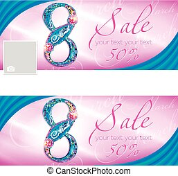 Sale Happy March 8 - Sale to Women's Day March 8