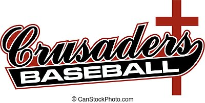 crusaders baseball team design in script for school, college...