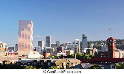 Downtown Portland View - View of downtown Portland, Oregon...