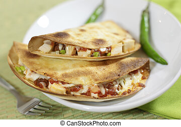 Quesadillas, pollo