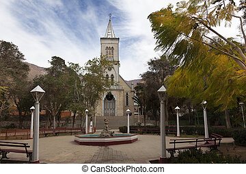Church - Main square on Pisco Elqui Chile