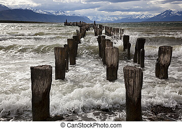 Old Pier - The remains of an old pier, now a resting place...