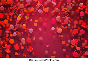 Red Confetti Background