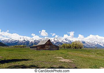 Old Mormon Barn in the Tetons - The Moulton Barn and the...