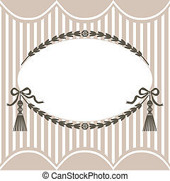 Vector vintage frame - Vintage style vector frame with space...