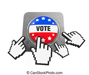 Vote Button Isolated
