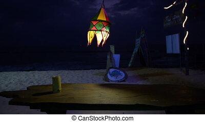 Cafe near ocean - Cafe near oBright lantern in cafe near...