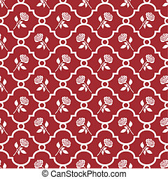 Roses wallpaper - Romantic white roses at red background...