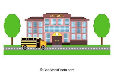 School bus rides to school
