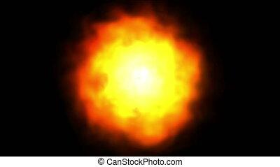 sun flame 4k