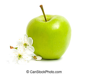 Green apple & flower