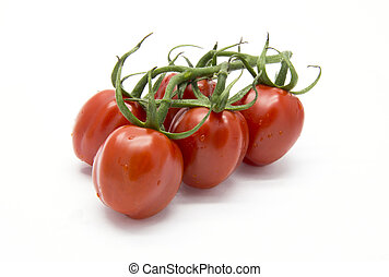 Bunch of piccadilly tomato on white isolated background