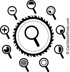 magnification icon for searching web