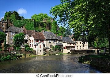 Segur-le-Chateau, medieval village in France - The medieval...