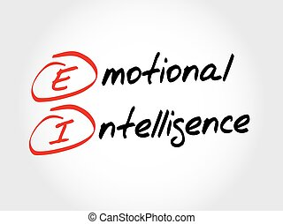 EI - Emotional Intelligence, acronym business concept