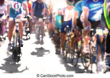 Cycle race. Blurred image