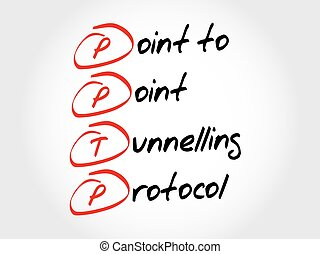 PPTP Point to Point Tunnelling Protocol, acronym business...