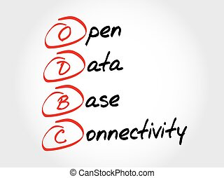 ODBC Open Database Connectivity, acronym business concept