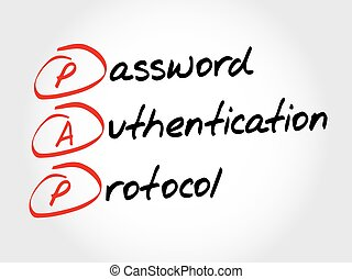 PAP Password Authentication Protocol, acronym concept