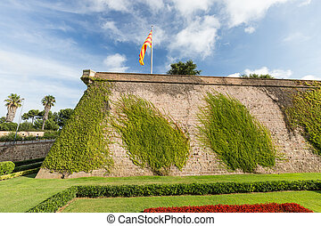 Montjuic Castle in Barcelona - Old Fort Montjuic Castle in...