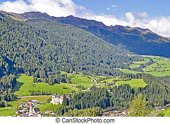 Tirol landscape - Typical landscape, Alps valley, in South...