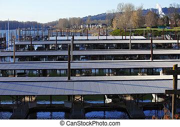 Marina in Camas WA. - Sailboats & yachts garaged in this...