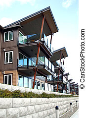 Row of condominiums - Row of new condominiums in Vancouver...