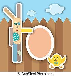 Easter scrapbook elements Vector illustration - Easter...