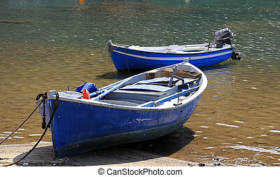 Wooden traditional boats in Greece