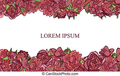 Invitation card with Rose