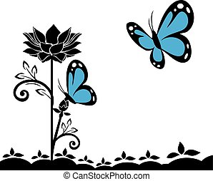 butterflies and flowers 19
