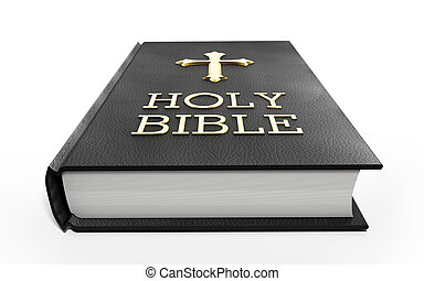 Holy Bible - Black Holy Bible iolated on white background