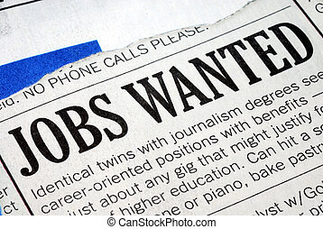 Searching for a job from a newspaper