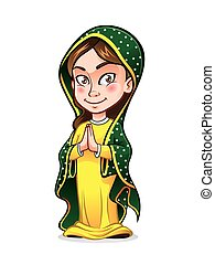 Cute Lady Guadalupe - cute lady guadalupe being clasped her...
