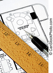 Prepares the floorplan for a residence