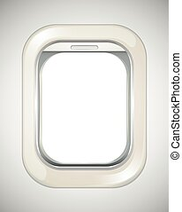 Airplane window with no view
