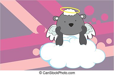 cherub sheep cartoon background - sweet cherub sheep cartoon...