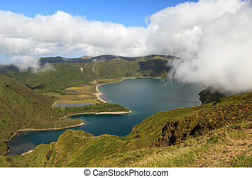 Lake of Fire Lagoa do Fogo in Sao Miguel Island - Azores -...