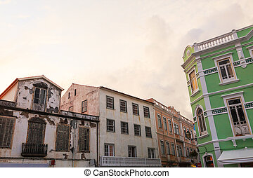 Old historic buildings in Azores Islands, Portugal