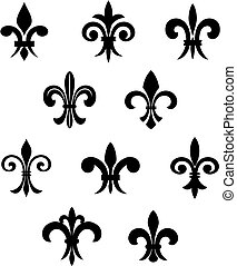 Royal lily - Royal french lily symbols for design and...