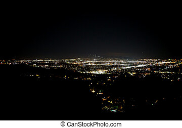 Night Lights Los Angeles - The lights of Los Angeles at...