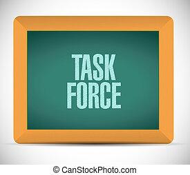 task force chalkboard sign concept illustration design...
