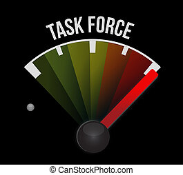 task force meter sign concept illustration design graphic