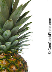 fragment Of Pineapple - Fragment of pineapple isolated on a...