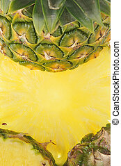 Pineapple as yellow background