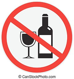 No alcohol sign