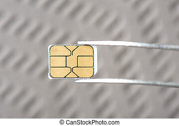 SIM card - closeup very small Nano SIM card