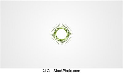 St. Patricks Day green abstract video animation - St....