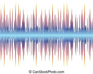 Background with sound wave. - A color background with a...